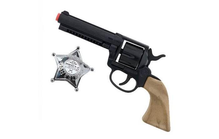 Игрушечное оружие Gonher Игрушка Ковбойский набор (револьвер+звезда шерифа) 204/0 сигнальный револьвер блеф наган