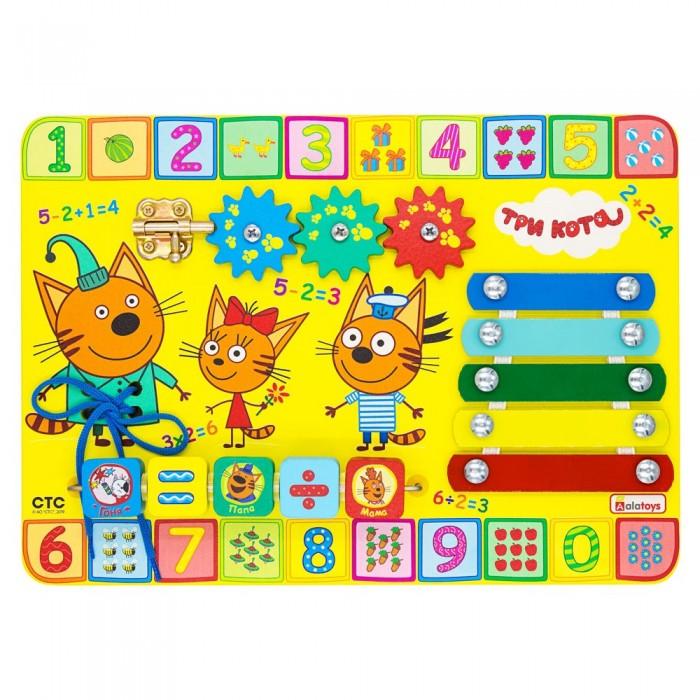 Фото - Деревянные игрушки Alatoys Бизиборд Учим цифры Три кота бизиборд alatoys три кота учим цифры разноцветный