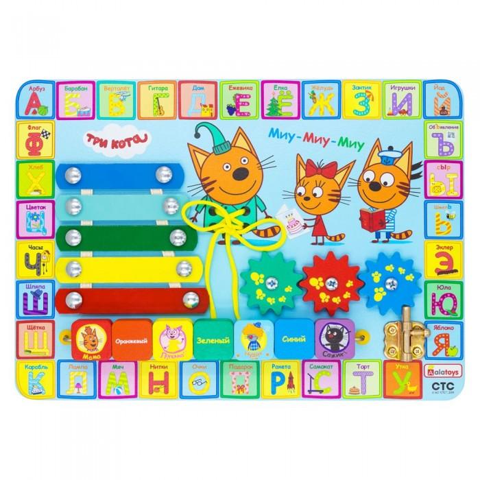 Фото - Деревянные игрушки Alatoys Бизиборд Учим буквы Три кота бизиборд alatoys три кота учим цифры разноцветный