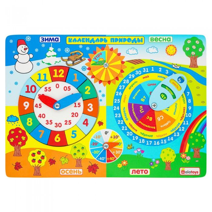 Деревянная игрушка Alatoys Бизиборд Календарь природы