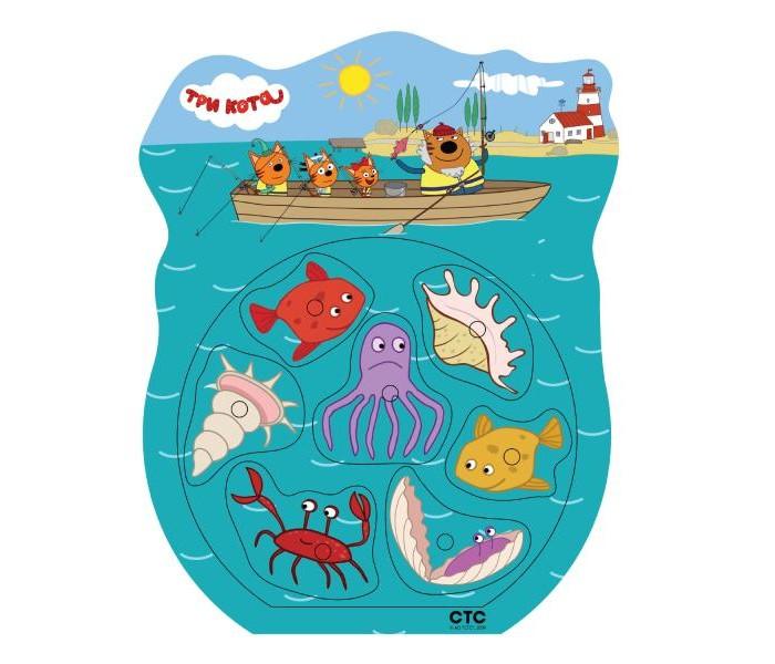 Деревянные игрушки Буратино Три кота рыбалка Ловись рыбка! недорого
