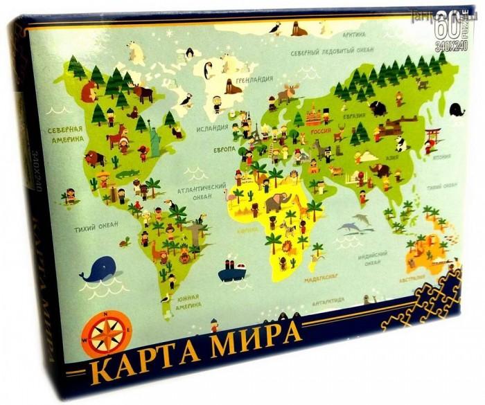 Пазлы Нескучные Игры Пазл Карта мира (60 элементов)
