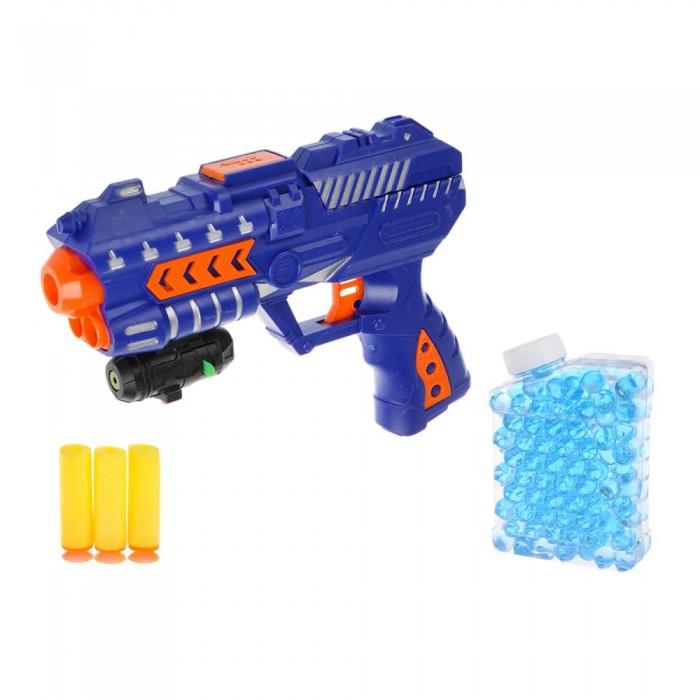 Фото - Игрушечное оружие Играем вместе Бластер с мягкими пулями и гелевыми шариками игрушечное оружие играем вместе бластер стреляющий шариками по кеглям