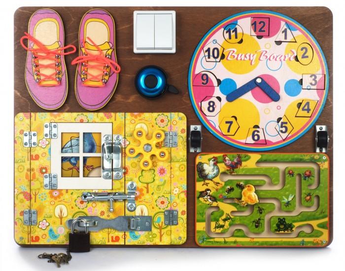 Купить Деревянные игрушки, Деревянная игрушка Нескучные Игры Бизиборд № 2 для девочек