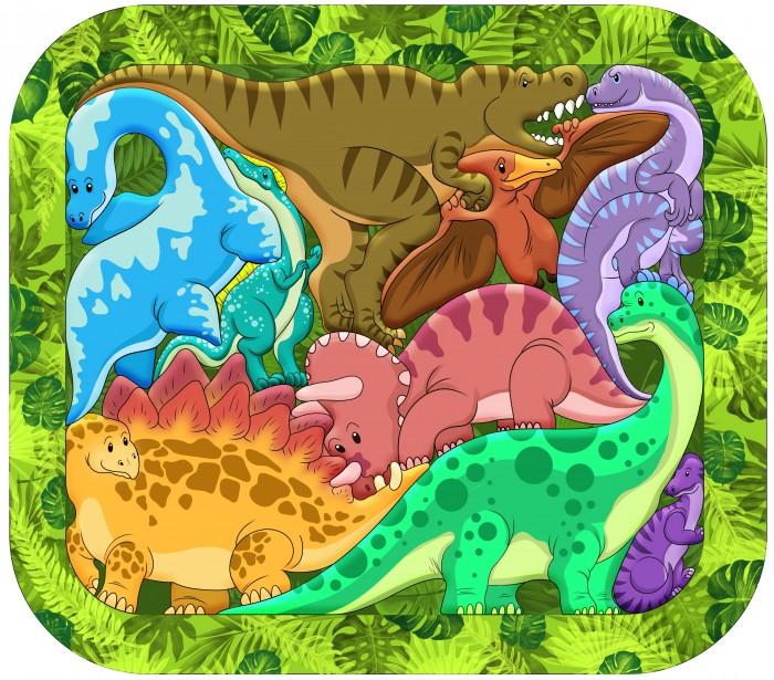 Деревянные игрушки Нескучные Игры Зоопазл Динозавры нескучные игры зоопазл нескучные игры букашки 17 деталей