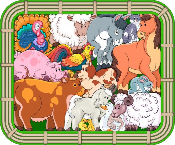 Деревянные игрушки Нескучные Игры Зоопазл Переполох на ферме нескучные игры зоопазл нескучные игры букашки 17 деталей