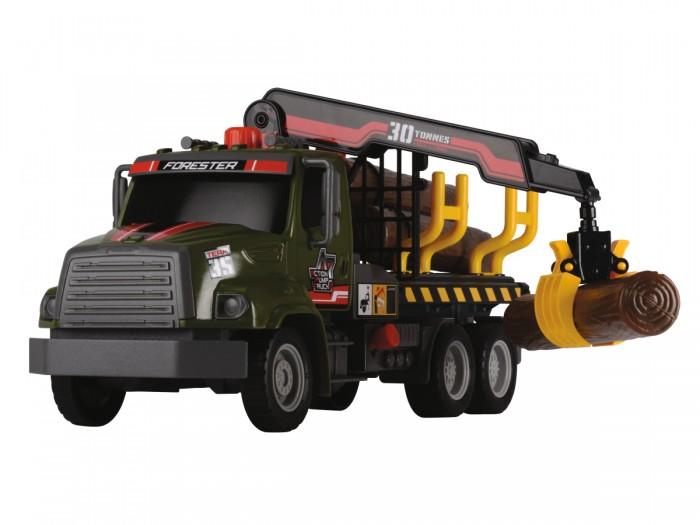 Dickie Грузовик с манипулятором AirPumpГрузовик с манипулятором AirPumpDickie Грузовик с манипулятором AirPump, обязательно понравится вашему малышу и займет его внимание надолго.  Особенности: Колеса грузовиков вращаются, их можно катать.  Кузов грузовиков открытый, в комплекте идут бревна, которые можно в нем перевозить.  Благодаря подвижному крану их можно укладывать в кузов и вынимать из него, что придает реалистичности игре. Фрикционный механизм разгона позволяет грузовикам проезжать некоторое расстояние по ровной поверхности самостоятельно.  Все модели выполнены крайне детально и аккуратно, в ярких насыщенных цветах, тщательно проработан каждый элемент.  Изделия изготовлены из прочного и высококачественного пластика и прослужат вашему ребенку очень долго.<br>