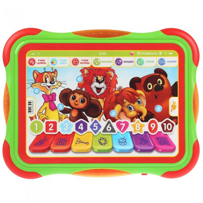 Электронные игрушки Умка Обучающий планшет Мои любимые мультфильмы умка раскраска с наклейками любимые мультфильмы