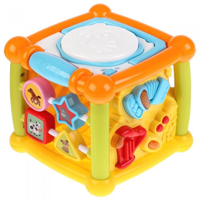 Игровые центры Умка куб Маленький музыкант Малышарики игровые центры умка развивающий домик будильник
