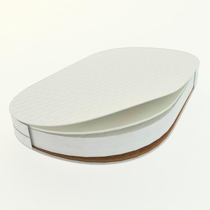 Матрас DreamTex для овальной кроватки Dreams Бук Стандарт 73х125х9 см