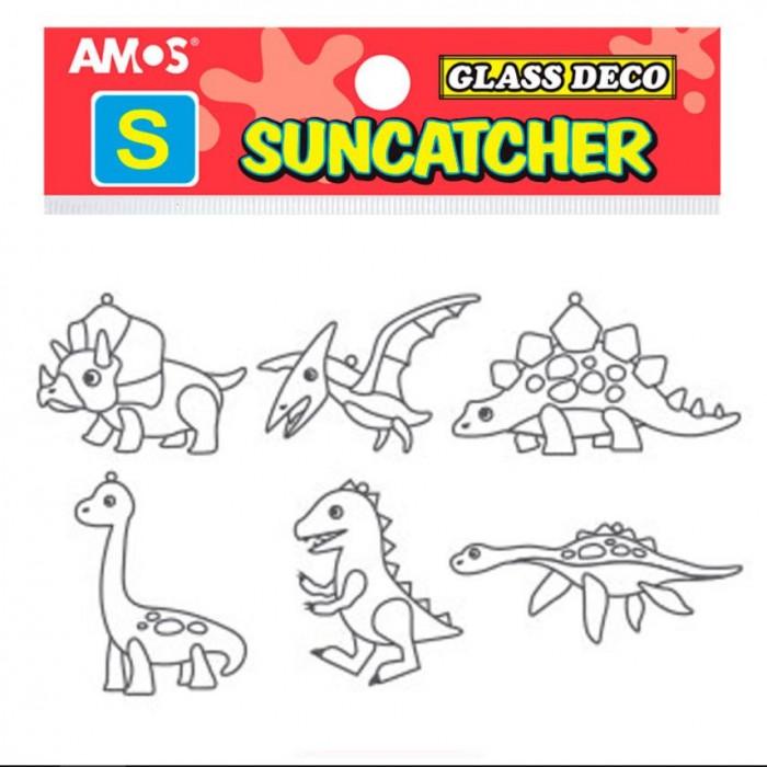 Наборы для творчества Amos Витражи мини Набор 9 Динозавры 6 шт.