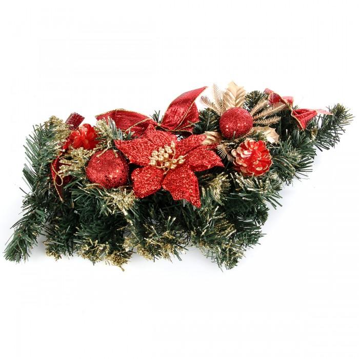 Картинка для Новогодние украшения Веселый хоровод Новогоднее украшение Венок 40 см