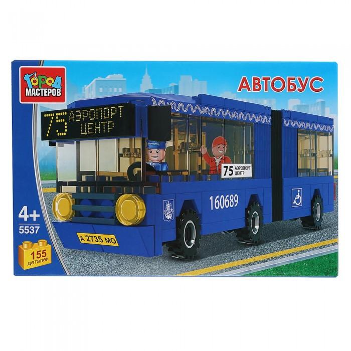 Купить Сборные модели, Город мастеров Автобус с гармошкой (155 деталей)