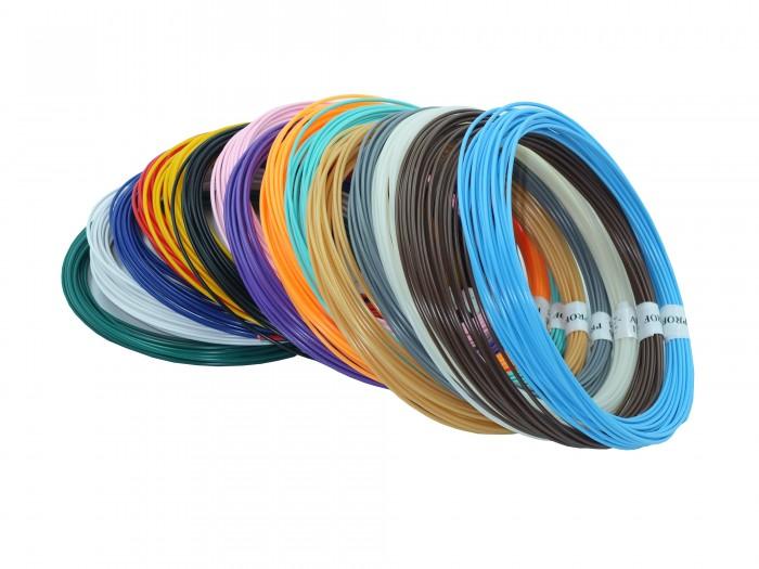 Купить Наборы для творчества, Prof Набор пластика ABS для 3D ручек 15 цветов по 10 м.