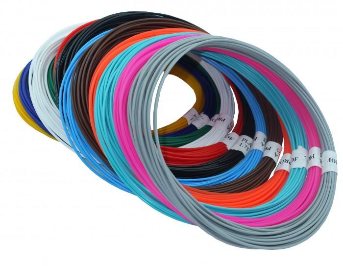 Купить Наборы для творчества, Prof Набор пластика PLA для 3D ручек 12 цветов по 10 м.