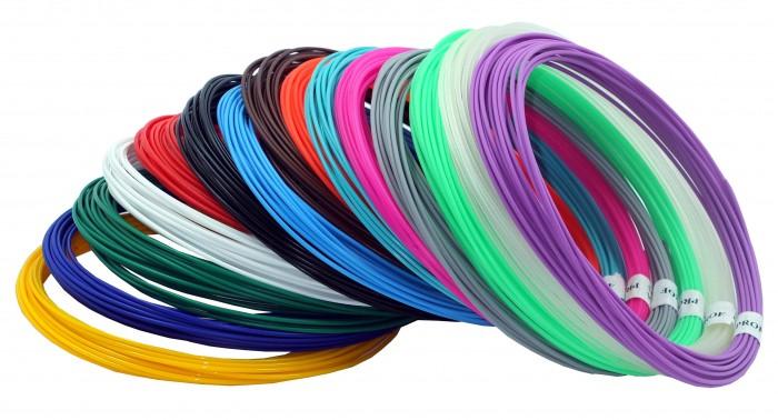 Купить Наборы для творчества, Prof Набор пластика PLA для 3D ручек 15 цветов по 10 м.