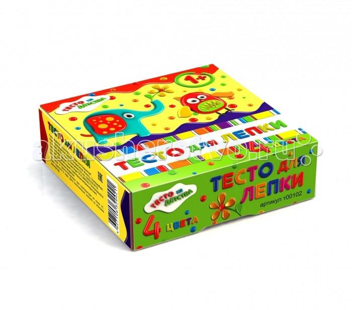 набор для детского творчества тесто для лепки тесто из детства 3цв 135гр т00105 Всё для лепки Тесто из детства Набор для детского творчества Тесто для лепки 4 цвета