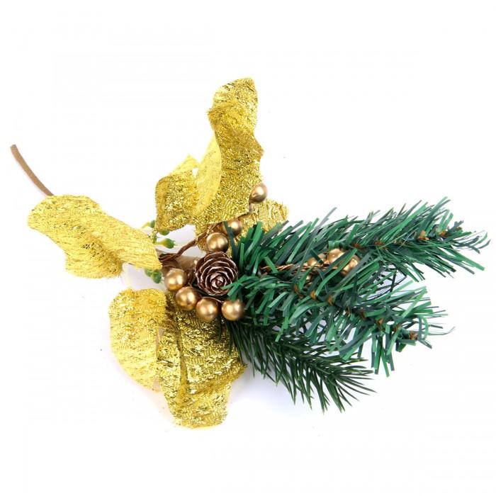 Новогодние украшения Веселый хоровод Новогоднее украшение с листьями 33 см