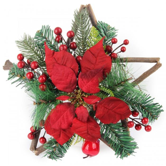 Новогодние украшения Веселый хоровод Новогоднее украшение с ягодами 33 см