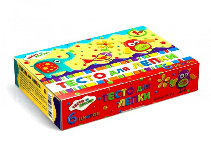 набор для детского творчества тесто для лепки тесто из детства 3цв 135гр т00105 Всё для лепки Тесто из детства Набор для детского творчества Тесто для лепки 6 цветов