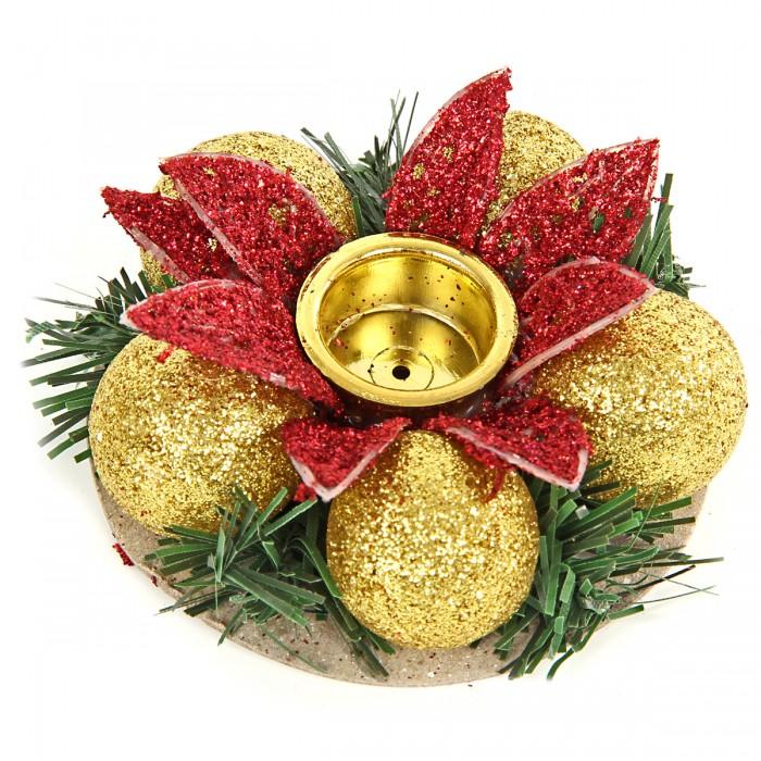 Новогодние украшения Веселый хоровод Подсвечник новогодний 8 см KL56571