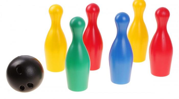 Спортивный инвентарь Игрушки Поволжья Набор Боулинг (6 кеглей, 1 шар) набор кеглей юг пласт 8000