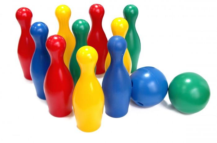 Спортивный инвентарь Игрушки Поволжья Набор Боулинг (10 кеглей, 2 шара) набор кеглей юг пласт 8000