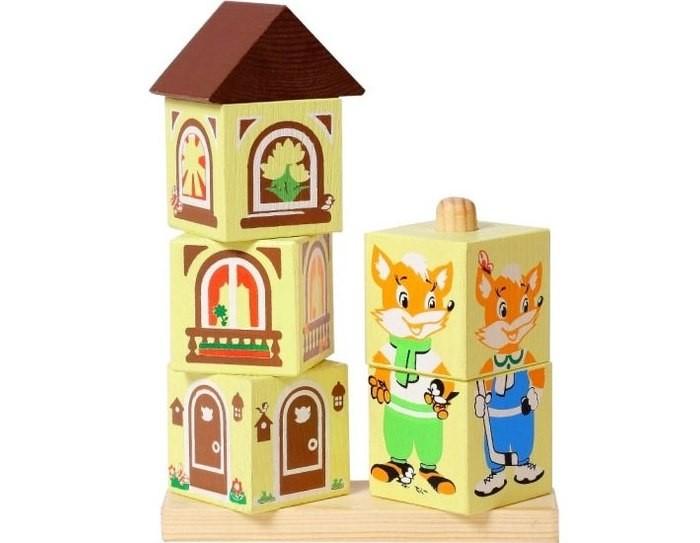 Деревянные игрушки Томик Кубики на палочке Лисенок леденцы на палочке в хабаровске
