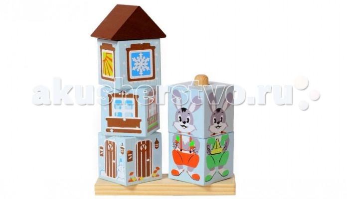 Деревянные игрушки Томик Кубики на палочке Зайка леденцы на палочке в хабаровске