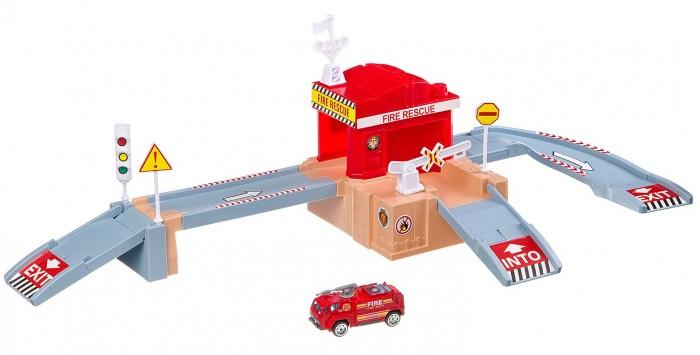 Машины China Bright Pacific Набор Паркинг Пожарная станция (36 деталей) игровой набор hasbro город пожарная станция b3415