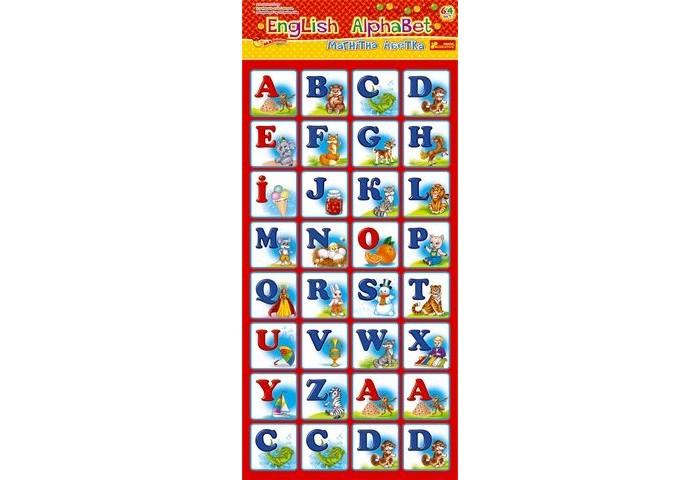 Раннее развитие Ранок Игры на магнитах English Alphabet