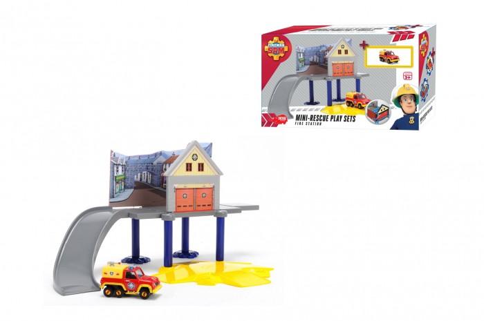Машины Dickie Пожарный Сэм Маленький пожарный гараж dickie toys пожарный сэм пожарный гараж
