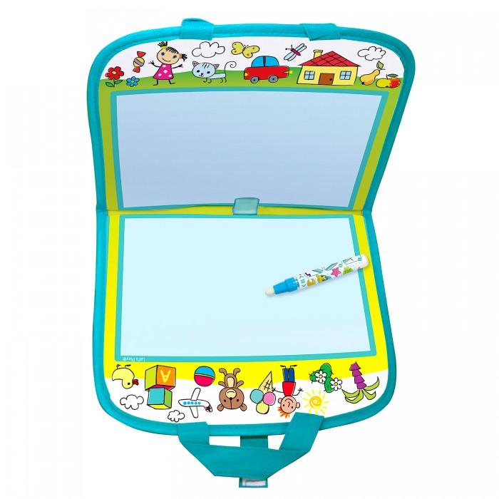 Раскраска Let's play Коврик-книжка с маркером для рисования водой 23х29 см
