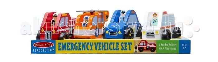 Деревянные игрушки Melissa & Doug Игровой набор Служба спасения