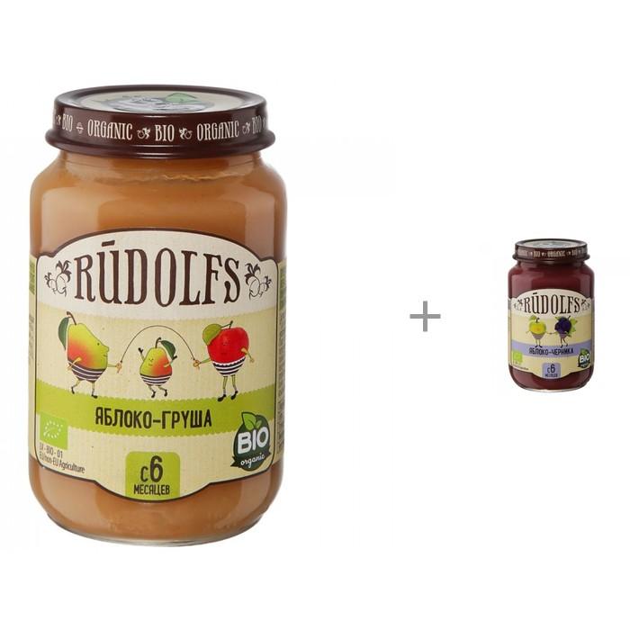 Купить Rudolfs Пюре фруктовое яблоко-груша и яблоко-черника в интернет магазине. Цены, фото, описания, характеристики, отзывы, обзоры