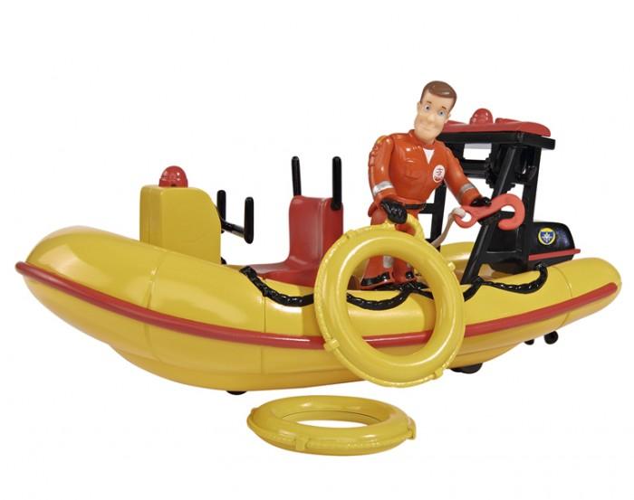 Игровые наборы Simba Пожарный Сэм Лодка спасателей квадроцикл simba пожарный сэм меркурий со светом фигурка и акс 11 16 12см