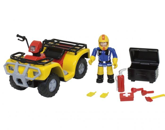 Игровые наборы Simba Пожарный Сэм Фгурка+квадроцикл квадроцикл simba пожарный сэм меркурий со светом фигурка и акс 11 16 12см
