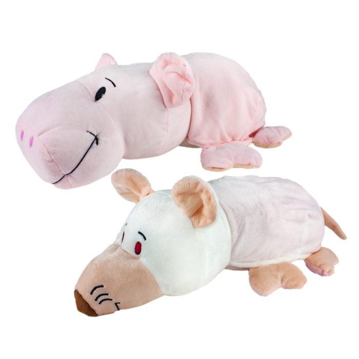 Мягкая игрушка 1 Toy Вывернушка 2 в 1 Свинья-Крыса 35 см