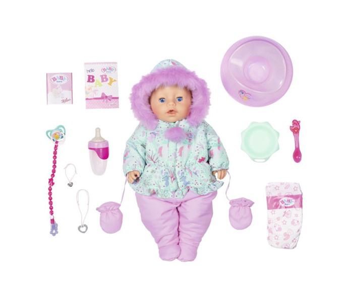 Купить Куклы и одежда для кукол, Zapf Creation Baby born Кукла интерактивная Зимняя 43 см