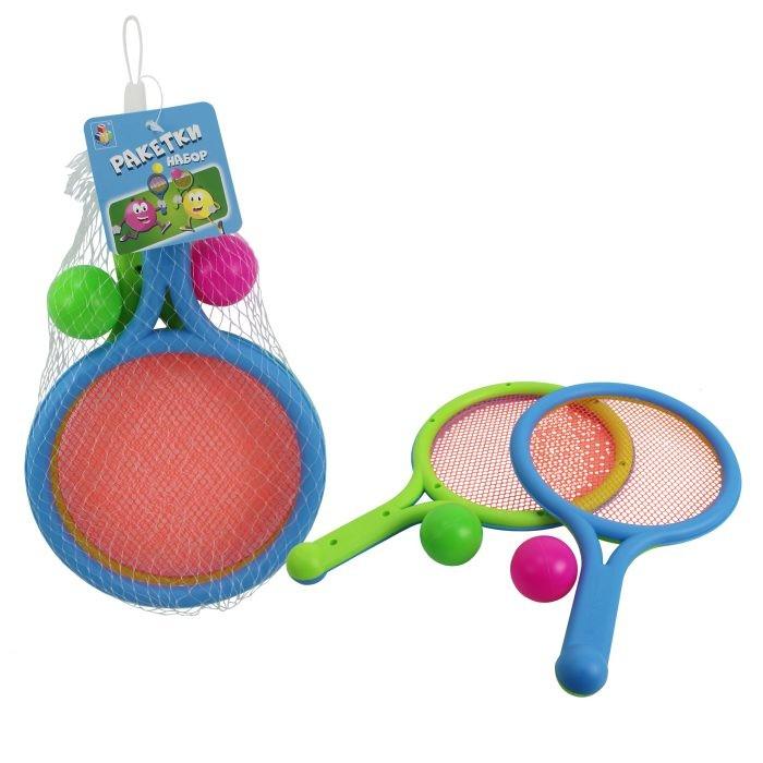 Купить 1 Toy Набор: Ракетки с сеткой и 2 мяча в интернет магазине. Цены, фото, описания, характеристики, отзывы, обзоры