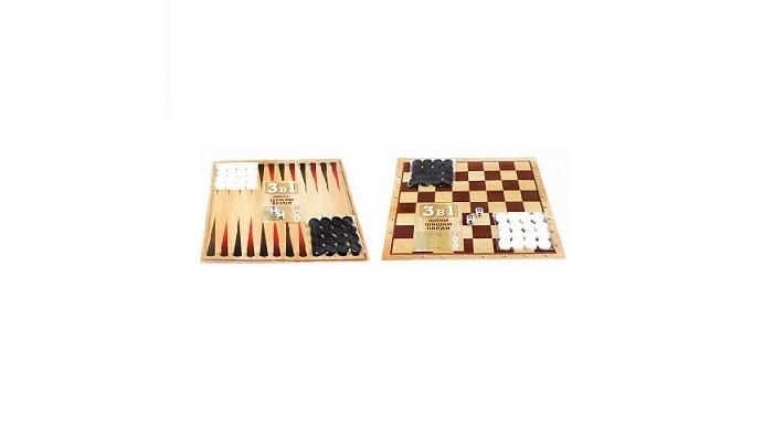 Настольные игры Чапаев Игра 3 в 1 шахматы, шашки и нарды