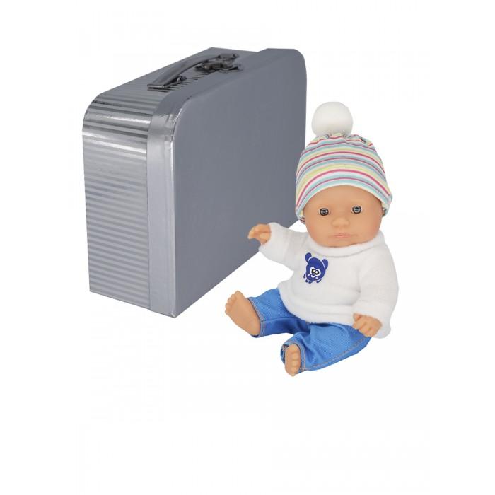 Miniland Кукла пупс Мальчик европеец с двумя комплектами одежды в чемоданчике 21 см фото