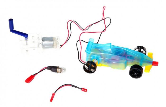 Купить Наборы для опытов и экспериментов, Экспериментариум Гоночная машина на ручном генераторе