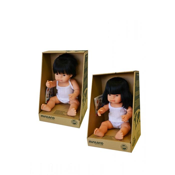 Miniland Набор кукол Близнецы мальчик и девочка азиаты 38 см фото
