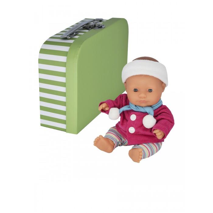 Miniland Кукла пупс Девочка европейка с двумя комплектами одежды в чемоданчике 21 см фото