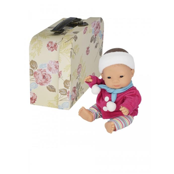 Miniland Кукла пупс Девочка азиатка с двумя комплектами одежды в  чемоданчике 21 см