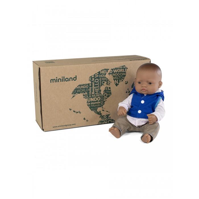 Куклы и одежда для кукол Miniland Кукла Мальчик Латиноамериканец с комплектом одежды 32 см
