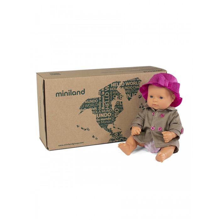 Купить Miniland Кукла пупс Девочка Европейка с комплектом одежды 32 см в интернет магазине. Цены, фото, описания, характеристики, отзывы, обзоры