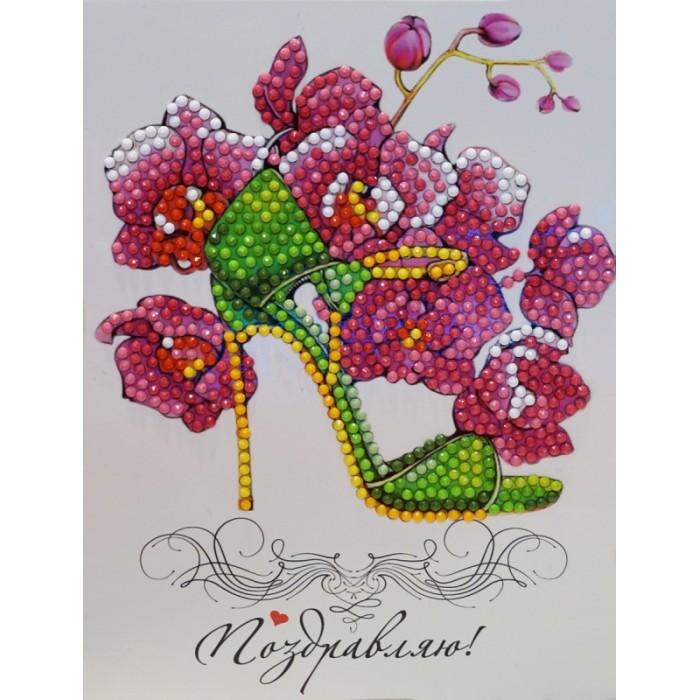 цена на Картины своими руками Itshobby Алмазная открытка Поздравляю! AZ017