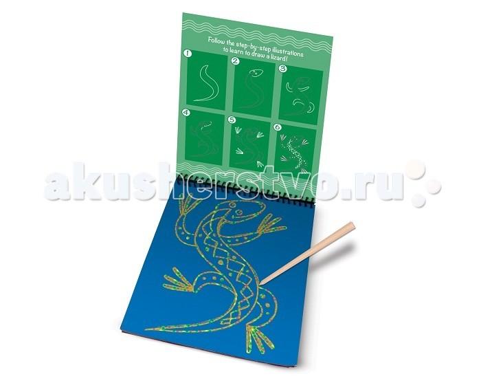 Наборы для творчества Melissa & Doug Набор для творчества Scratch Art Домашние животные